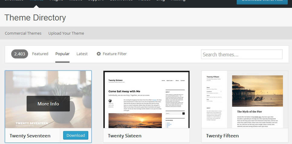 wordpress how to find free themes