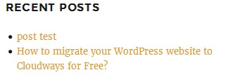 wordpress widgets recent posts