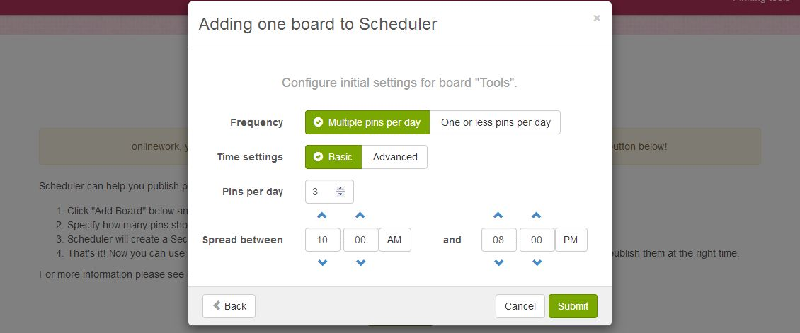 boardbooster scheduler scheduling pins