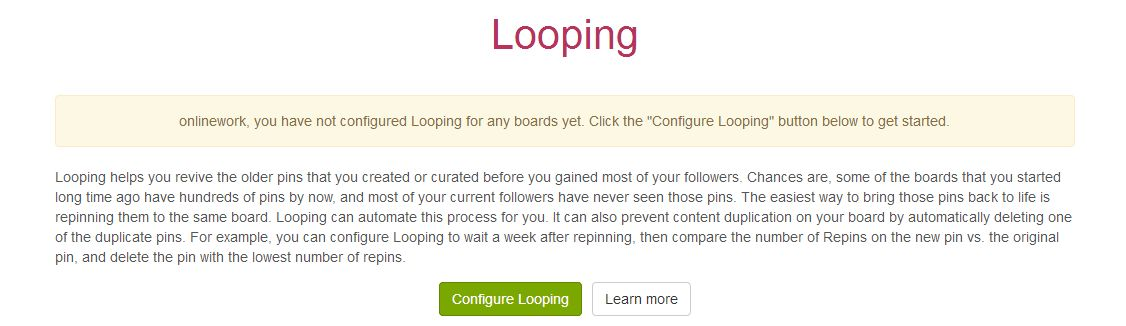 boardbooster looping pinterest pins configure